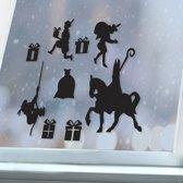 Raamsticker sint - statisch hechtend - herbruikbaar - raamdecoratie