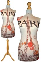 Paris des fleurs paspop met licht bruine sparkling driepoot  32/34