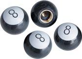 Simoni Racing Set ventielkapjes 8-Ball - Zwart - 4-stuks