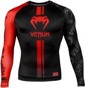 Venum Rashguard Logos Long Sleeve Zwart/Rood Medium