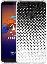 Motorola Moto E6 Play Hoesje zwart witte cirkels