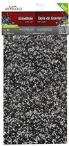 4 stuks Grindfolie zwart/wit 30x14 cm
