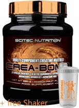 Scitec Nutrition - Crea Bomb - Multi-component creatine matrix - 660 g - 110 porties - poeder - Passion Fruit + sportandmore shaker