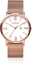 Zinzi Retro ZIW508M rosékleurig - 34mm + gratis Zinzi armbandje