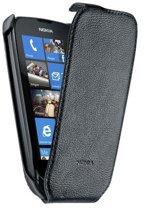 Nokia Lederen flip cover voor Nokia Lumia 610 - Zwart