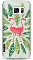 Casetastic Softcover Samsung Galaxy S7 - Flamingos Green