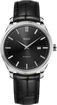 Maen MN1531.2.2.1 horloge heren - zwart - edelstaal