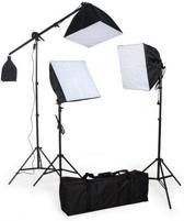 IMPAQT Studiolampen set - 3x fotolamp fotografie softbox