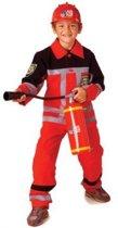 Brandweerpak luxe rood mt.140