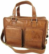 "ORANGE FIRE Heren laptoptas 15,6"" TWO POCKET L Cognac"