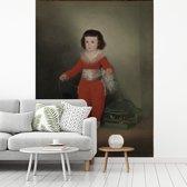 Fotobehang vinyl - Manuel Osorio Manrique de Zuñiga - Schilderij van Francisco Goya breedte 375 cm x hoogte 500 cm - Foto print op behang (in 7 formaten beschikbaar)