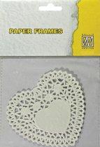 Nellies Choice Paper frames hart 12 Stuks 12.7 centimeter