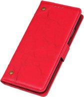 Mobigear Copper Buckle Retro Wallet Hoesje Rood Xiaomi Mi 9