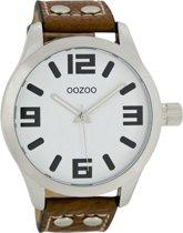 OOZOO Timepieces C1051 - Horloge - 46 mm - Leer - Bruin