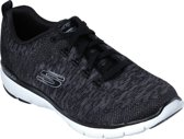 Skechers Flex Appeal 3.0 Dames Sneakers - Zwart - Maat 41