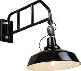 QAZQA Manhattan - Wand booglamp - 1 lichts - D 650 mm - Zwart