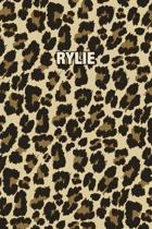 Rylie: Personalized Notebook - Leopard Print (Animal Pattern). Blank College Ruled (Lined) Journal for Notes, Journaling, Dia