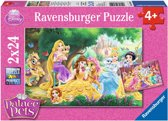 Ravensburger Disney Palace Pets Beste vrienden princess Twee puzzels van 24 stukjes