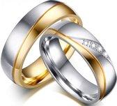 Schitterende Ringen voor hem en haar  - Prijs is set van 2 stuks