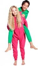 Warme onesie jumpsuit voor kinderen 7-8 jaar Groen