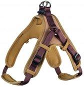 Hunter tuig voor hond neopreen vario quick bruin / caramel 45-55 cmx15 mm