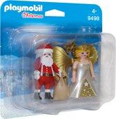 PLAYMOBIL DuoPack Kerstman en kerstengel - 9498