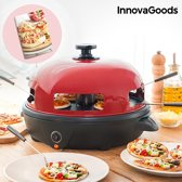 InnovaGoods 700W Red Black Presto! Mini Pizzaoven met Receptenboek