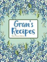 Gran's Recipes Blue Flower Edition