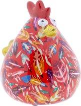 Kip Matilda spaarpot | Kip - Rood met veren | Pomme pidou