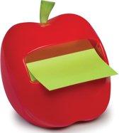 Post-it® Z-Notes Dispenser, Appel + 1 x  Post-it® Z-Notes, Ultra Groen/Pastelgroen (Afwisselend), 76 x 76 mm, 100 Blaadjes/Blok