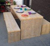 Steigerhout tuinset Picknick 140x80-2 banken 140