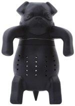 Thee-ei hond voor losse thee - theezeef / theefilter - kleur zwart