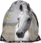 Animal Pictures Wit Paard - Gymbag - 38 x 34 cm - Multi