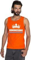 Oranje Koningsdag kroon tanktop shirt/ singlet heren XL