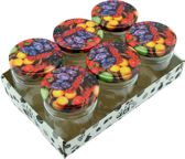 Confituur pot Jampot Inmaakpot met schroefdeksel van 210 ml - 7 x 7 cm - 6 stuks