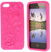 Special Jelly Hoesje iPhone 5 Pink Flower