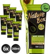 Nature Box Avocado Bodyscrub Vegan 200ml - 6 stuks - Voordeelverpakking