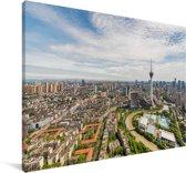 Adembenemende panorama van Chengdu Canvas 90x60 cm - Foto print op Canvas schilderij (Wanddecoratie woonkamer / slaapkamer) / Aziatische steden Canvas Schilderijen