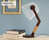 3D Led Lamp - Hout - Stijlvolle Gadget - Led Lamp