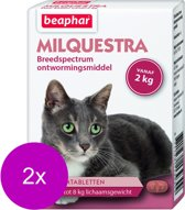 Beaphar Milquestra Kat - Anti wormenmiddel - 2 x 2 tab 2 Tot 12 Kg