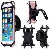 Universele verstelbare siliconen telefoon houder voor Fiets – Kinderwagen – Mountainbike – Motor – Scooter – Eclectische fiets – Racefiets – Blauw – Geschikte voor alle telefoons