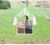 Esschert Design Combi - 2 stuks - Vogelvoederhuisje - Transparant - 14.5 cm x 10 cm x 15 cm