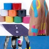 Sporttape Kinesiotape - Elastische Kinesiology (Knie) Medical Tape - 500 x 5cm Blauw