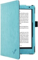 Premium Business Case, Betaalbare blauwe Hoes-Sleepcover voor Kobo Aura h2o Edition 2 2017, blauw , merk i12Cover