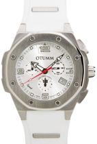 OTUMM Speed Steel SPST45-003 Horloge 45 mm - Siliconen - Wit