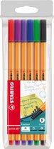 STABILO Point 88 Fineliner 0,4 mm - Etui 6 stuks