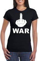 Fuck war t-shirt zwart voor dames XS