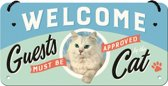 NOSTALGIC ART METALEN BORD HANGING CATS WELCOME