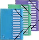 12x Elba 2nd Life sorteermap, A4, 12 tabs, uit PP , geassorteerde kleuren