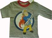 Grijs shirt van Brandweerman Sam maat 110/116
